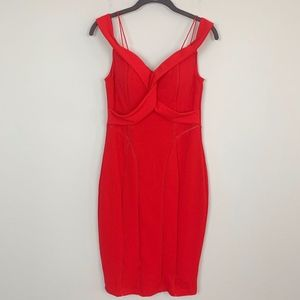 Fashion Nova Red Sweetheart Neckline Dress M